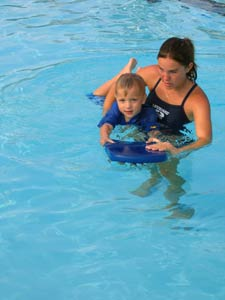 Swimming lessons at the Beach Complex