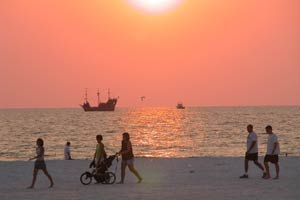 Sunset and Pirate ship at Clearwater Beach