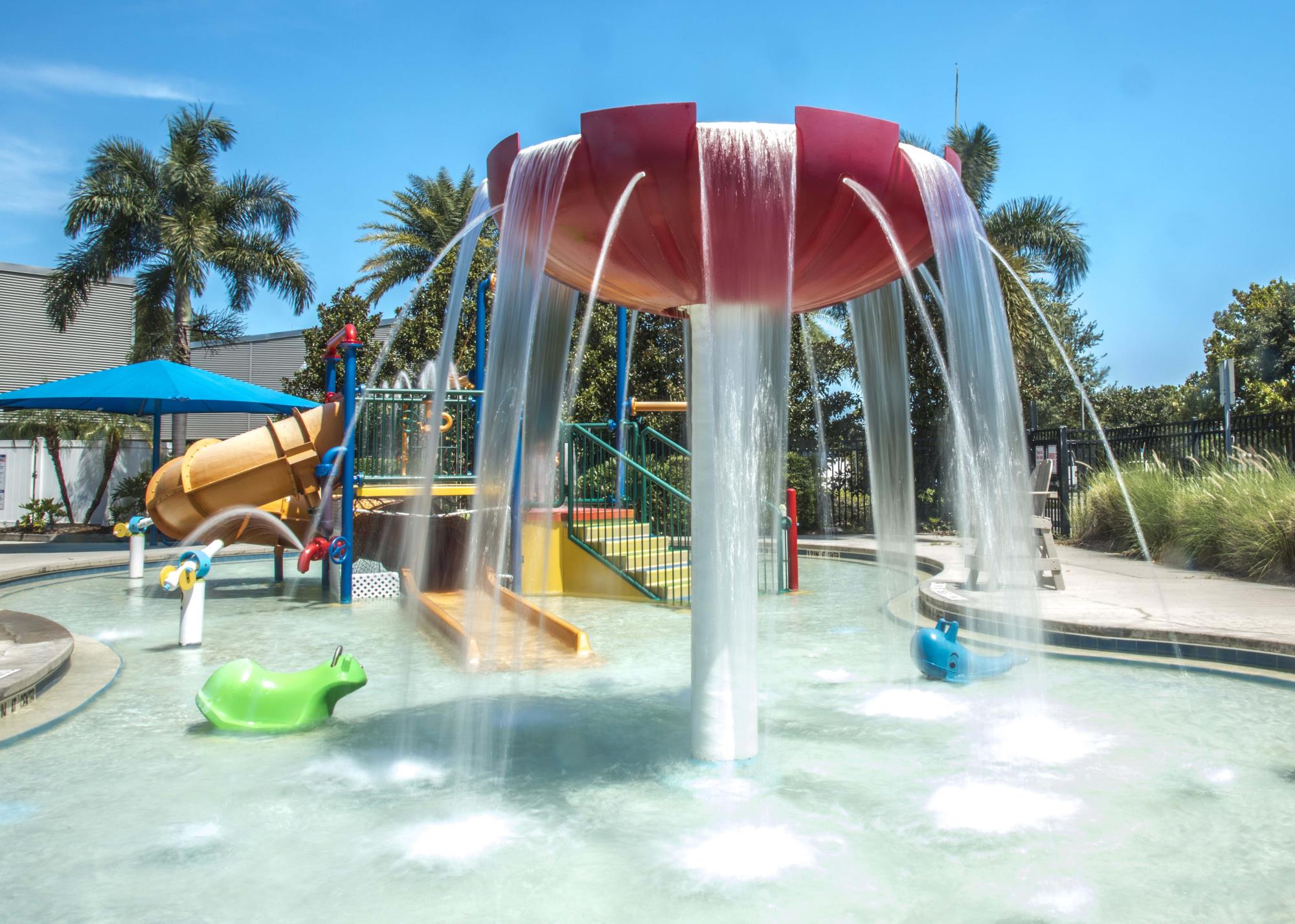 Play Area of Ross Norton Pool with Waterfall Feature