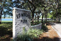 Entrance sign to Ed Wright Park
