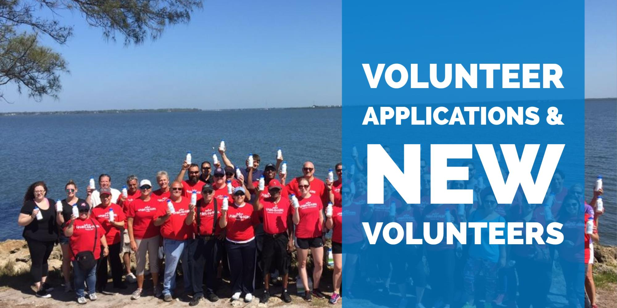 Volunteer applications and new volunteers